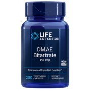 DMAE Bitartrate 150 mg (200 Veggie Capsules) - Life Extension