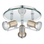 Aplica Eglo Tamara 1 crom mat 3 x 3,3W rotunda -94984