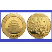 China 2010 - 500 yuan, moneda cu panda, aurit