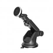 Baseus teleszkópos, mágneses autós telefontartó, fekete