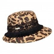 SEEBERGER cappello paglia donna stampa animal print