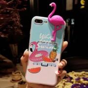 Para IPhone 8 Plus Y 7 Más Relieve Sandía Piña Flamingo Patron Cobertura Completa De Proteccion Volver Funda