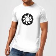 Magic The Gathering White Mana Splatter Men's T-Shirt - White - XL - White