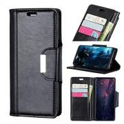 NO LOGO Anti-caída La Caja del teléfono for la Caja de la Carpeta de Samsung Galaxy S10 Plus Premium Caso Titular de la Tarjeta de Cuero con Cierre magnético (Color : Brown)