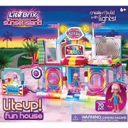 Cra Z Art Lite Brix Lite Up Fun House Building Set