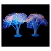 Acuario Articulos Decoracion Silicona Fluorescente De Simulación Sucker Medusas, Tamaño: 10 * 10 * 9cm (naranja)