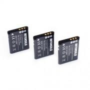 INTENSILO 3 x Li-Ion Batterie 700mAh (3.6V) pour appareil photo, caméscope Toshiba Camileo PX1686, SX-500, SX-900 comme D-Li88, VW-VBX070, DB-L80.