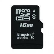 KINGSTON Karta Pamięci microSDHC 16GB bez adaptera (SDC4/16GBSP)