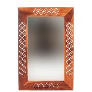 indickynabytek.cz - Zrcadlo Mira 60x90 z indického masivu palisandr / sheesham Světle medová