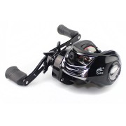 ZANLURE 7.2:1 17+1BB Metal Baitcasting Fishing Reel Long Shot Left / Right Hand Fishing Wheel