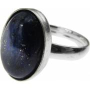Inel argint reglabil cu lapis lazuli natural 14x10 MM GlamBazaar Reglabila cu Lapis Lazuli Albastru tip inel reglabil de argint 925