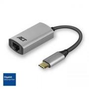 ACT USB-C naar Gigabit adapter zwart