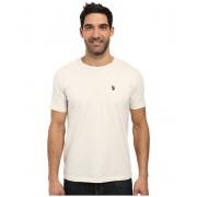 US Polo Assn Crew Neck Small Pony T-Shirt Oatmeal Heather