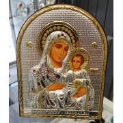 "Икона - Сребърна ""Богородица с Младенеца"" (EP4-006XG)"