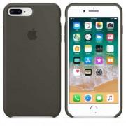 Apple Silicone Case - оригинален силиконов кейс за iPhone 8 Plus, iPhone 7 Plus (тъмнозелен)