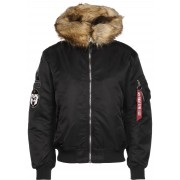 Alpha Industries MA-1 Hooded Arctic, taille S, homme, noir
