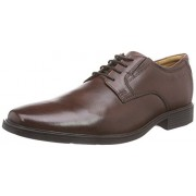 Clarks Men's Tilden Plain Brown Leather Formal Shoes - 9 UK