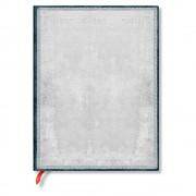 Paperblanks Linkovaný zápisník s měkkou vazbou ve stříbrné barvě Paperblanks Flint, 176 stran