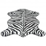 vidaXL Tappeto Sagomato 110x150 cm Stampa a Zebra