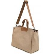 Oxford doek magnetische gesp handtas een schouder laptop tas bestand tas geschikt voor laptop grootte: 13.3-14 inch (bruin)