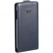Xcase Stilvolle Klapp-Schutztasche für Samsung Galaxy S4, schwarz
