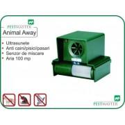 Aparat cu ultrasunete anti caini, rozatoare, pasari, pisici, Pestmaster Animal away, 100 mp