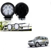 Auto Addict DEVICE 4 inch 9 LED 27Watt Round Fog Light with Flood Beam Auxiliary Lamp Set Of 2 Pcs For Tata Sumo Grand