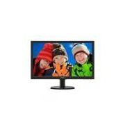 Monitor 23,6 LED HDMI Full HD Multimídia - DVI - Vesa Philips 243V5QHABA