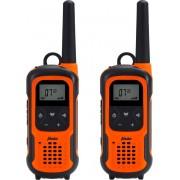 Alecto FR-300 Robuuste Walkie Talkie 10 km - Robuust IPX7 met Zaklamp met SOS functie - duo pack