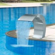 vidaXL Fântână cascadă grădină și piscină, oțel inoxidabil, 45 x 30 x 60 cm
