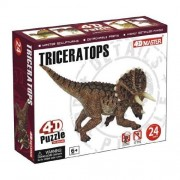 Build your own 3 inch Triceratops Dinosaur Model - 24 piece 4D Puzzle (Age 6+) by 4D Master