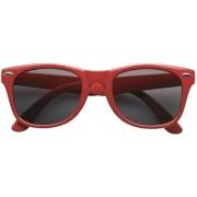 Rode Toppers concert zonnebril verkleedaccessoires - Toppers party bril rood - Zonnebrillen