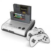Retro-Bit RetroDuo Twin Video Game System V3.0 Silver/Black Standard Edition