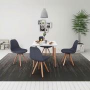 vidaXL Set masă și scaune de bucătărie, alb și gri închis, 5 piese