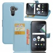 Premium PU Leather Wallet Case con bolsillos para la identificación, tarjetas de crédito para BlackBerry DTEK60 Tablet-Azul