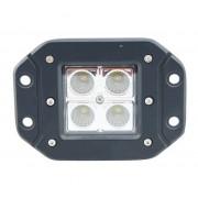 Beépíthető munkalámpa 4 CREE LED-es (122x92mm) terítő fény