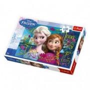 Puzzle Frozen - Anna si Elsa 100 pcs 16255 Trefl