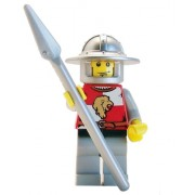 Lion Knight (Spear, Wide Helmet) - LEGO Kingdoms Minifigure