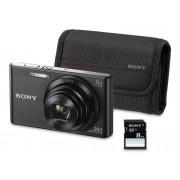 Sony Kit Cámara Compacta DSC-W830 + Funda + Tarjeta SD 8GB (Negro - 20.1 MP - ISO: 80 a 3200 - Zoom Óptico: 8x)