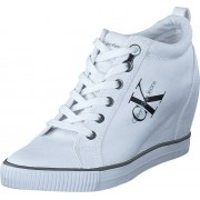 Calvin Klein Jeans Ritzy Canvas White, Skor, Sneakers & Sportskor, Kilklackssneakers, Vit, Dam, 37