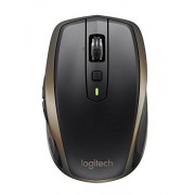 Logitech MX Anywhere 2 Wireless Mouse Use On Any Surface, Hyper-Fast Scrolling, Rechargeable, for Apple Mac or Microsoft Windows Computers and laptops, Meteorite