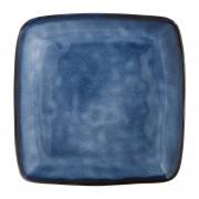 Xenos Vierkant bord Toscane - donkerblauw - 25 cm