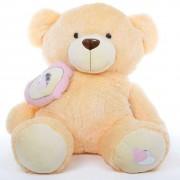 Peach 5 Feet Big Teddy Bear with a heart