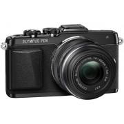 Aparat Foto Mirrorless Olympus E-PL7 (Negru) cu Obiectiv 14-42mm, Filmare Full HD, 16.1MP