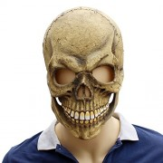 LUOEM Skull Skeleton Spooky Masks Latex Terror Props Accessory for Halloween Haunted House - Halloween Costumes