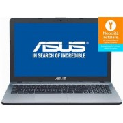 "Laptop ASUS VivoBook X541UA-GO1301 (Procesor Intel® Core™ i3-7100U (3M Cache, 2.40 GHz), Skylake, 15.6"", 4GB, 500GB, Intel® HD Graphics 520, DVD-RW, Endless OS, Argintiu) + Bonus Intel Core i3 Software Pack ASUS"