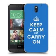 Husa HTC Desire 610 Silicon Gel Tpu Model Keep Calm Carry On