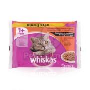 Whiskas hrană la plic cu cărnuri alese în sos 2 x (4 x 100 g)