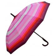 Umbrela Baston ICONIC Automata, Roz deschis multicolor,