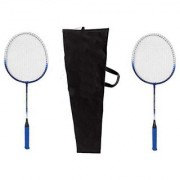 Emm Emm Pack of 2 Pcs Finest Badminton Rackets/Racquets With Full Zipper Cover